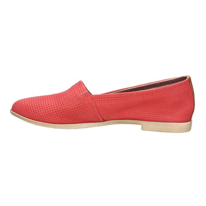 Červené kožené Slip-on topánky bata, červená, 516-5602 - 26
