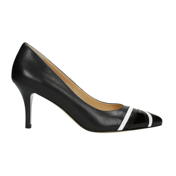 Elegantné dámske lodičky bata, čierna, 624-6633 - 15