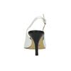 Kožené Sling-back lodičky bata, biela, 624-1634 - 17