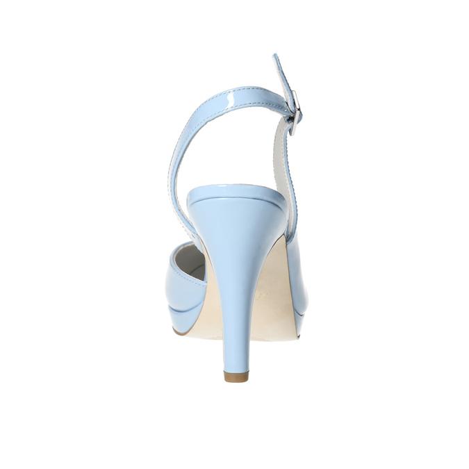 Modré kožené lodičky s voľnou pätou insolia, modrá, 728-9638 - 17