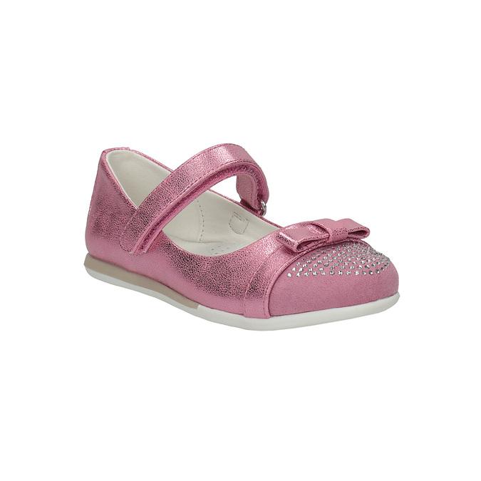 Ružové baleríny s remienkom cez priehlavok mini-b, ružová, 221-5179 - 13