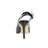 Čierne kožené lodičky s voľnou pätou insolia, čierna, 724-6634 - 17