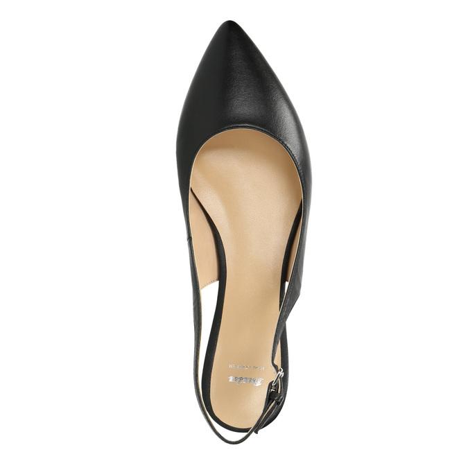 Dámske baleríny s otvorenou pätou bata, čierna, 524-6603 - 19