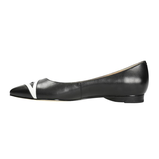Dámske baleríny do špičky bata, čierna, 524-6602 - 26