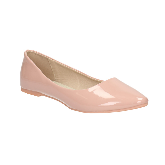 Lakované dámske baleríny bata, ružová, 521-5602 - 13