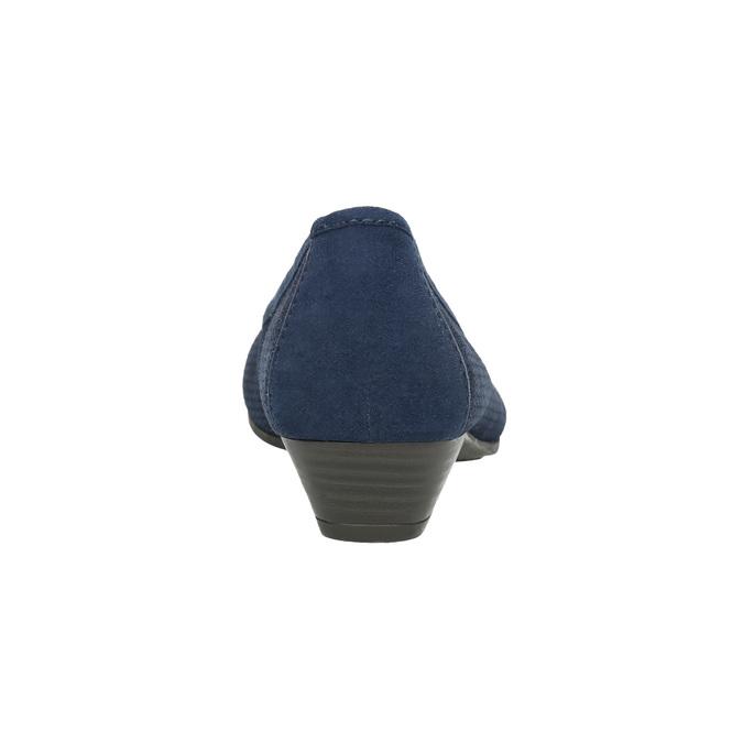 Kožené lodičky šírky H bata, modrá, 623-9601 - 17
