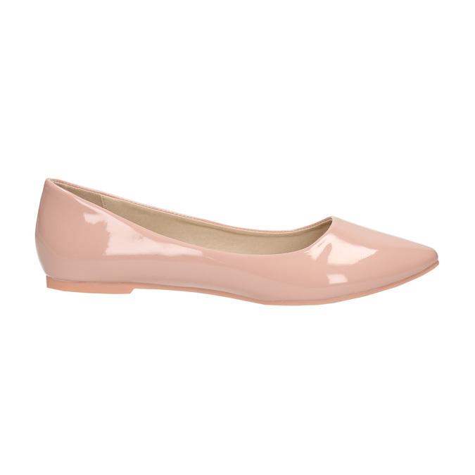 Lakované dámske baleríny bata, ružová, 521-5602 - 15