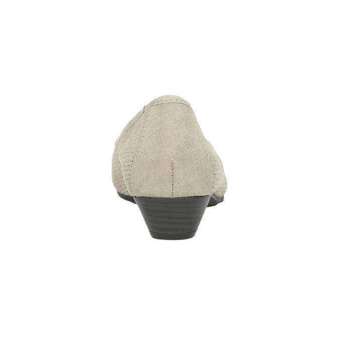 Kožené lodičky šírky H bata, šedá, 623-2601 - 17