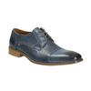 Modré kožené poltopánky bata, modrá, 826-9801 - 13