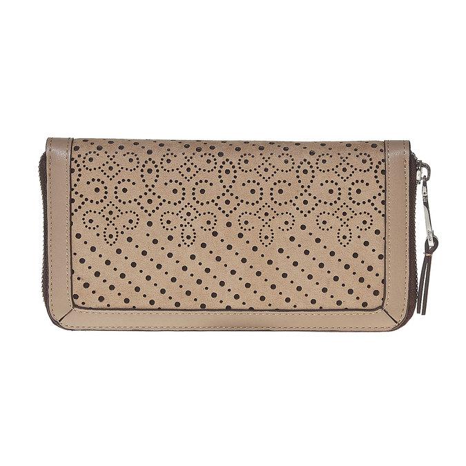 Perforovaná dámska peňaženka bata, hnedá, 941-3147 - 17