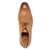 Kožené poltopánky v Derby strihu bata, hnedá, 826-3802 - 19