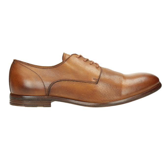 Ležérne kožené Derby poltopánky bata, hnedá, 826-3907 - 15