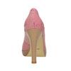 Kožené pruhované lodičky bata, ružová, 726-5633 - 17
