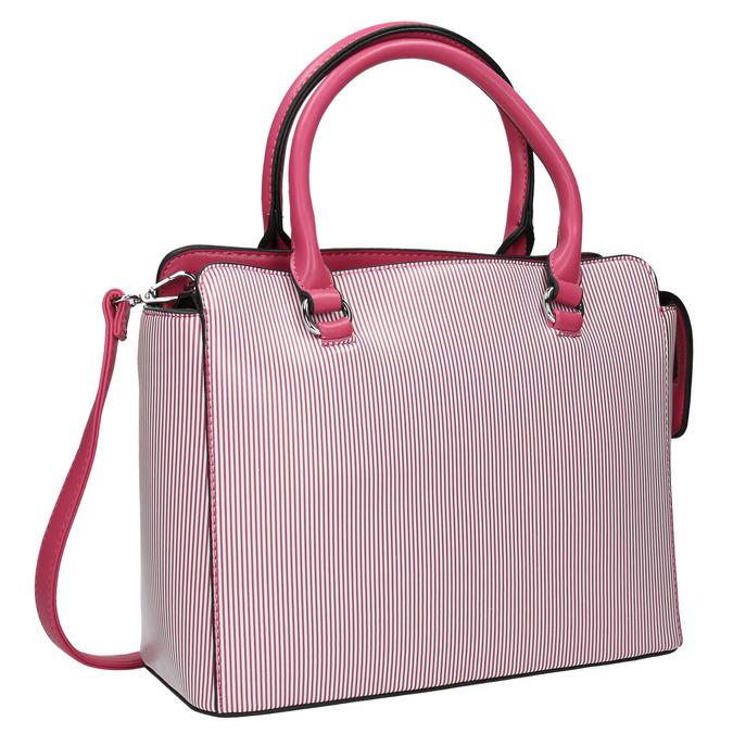 Pruhovaná dámska kabelka bata, ružová, 961-5747 - 13