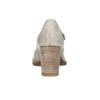 Dámske lodičky s remienkom cez priehlavok bata, šedá, 626-2641 - 17