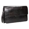 Kožená kabelka s krokodýlím vzorom vagabond, hnedá, 966-3030 - 13