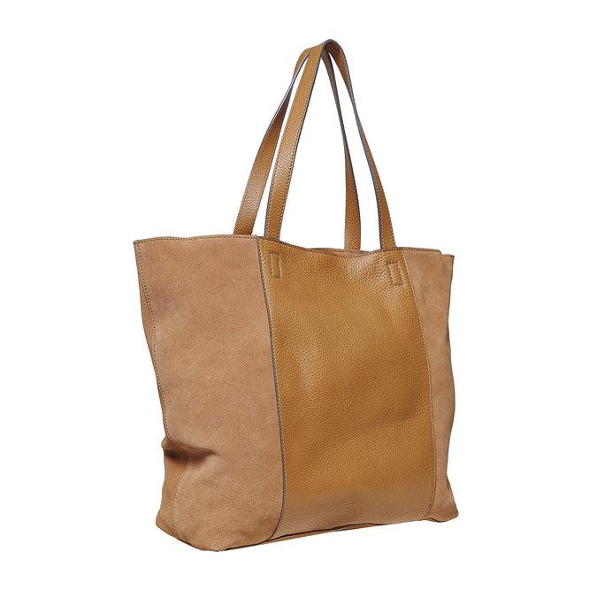 Dámska hnedá kožená kabelka bata, hnedá, 964-3185 - 13