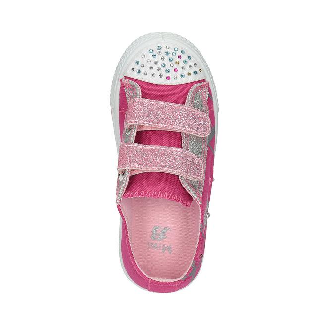 Ružové dievčenské tenisky mini-b, ružová, 229-5183 - 19
