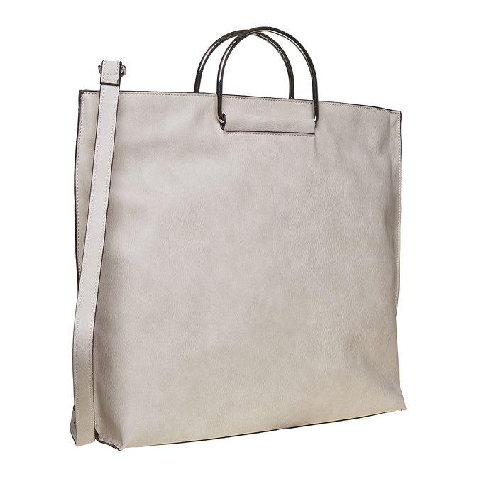 Krémová dámska kabelka bata, šedá, 961-8327 - 13