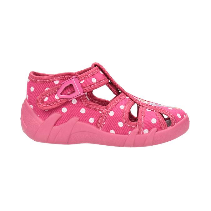 Detská členková domáca obuv mini-b, ružová, 179-5600 - 15