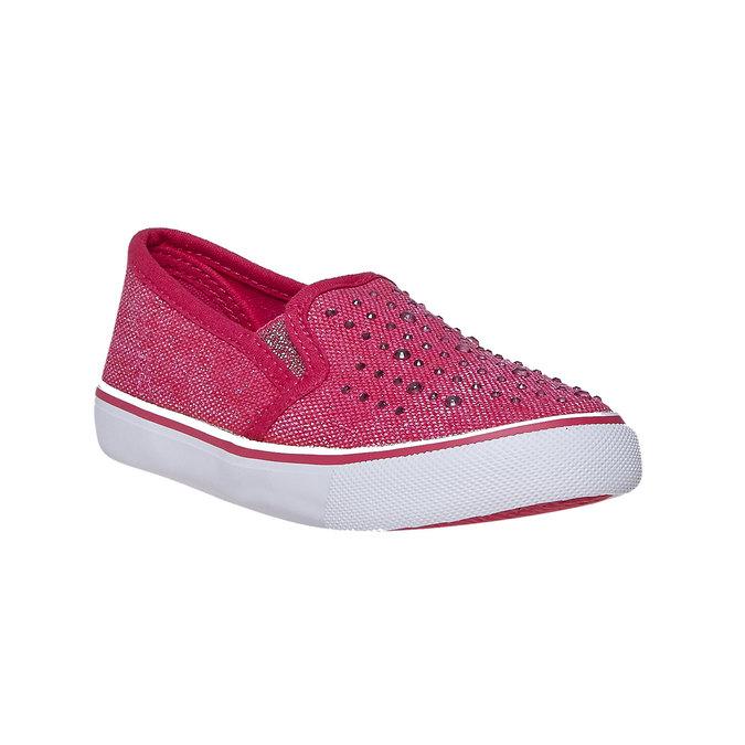 Dievčenské Slip-on obuv s kamienkami north-star, ružová, 229-5193 - 13