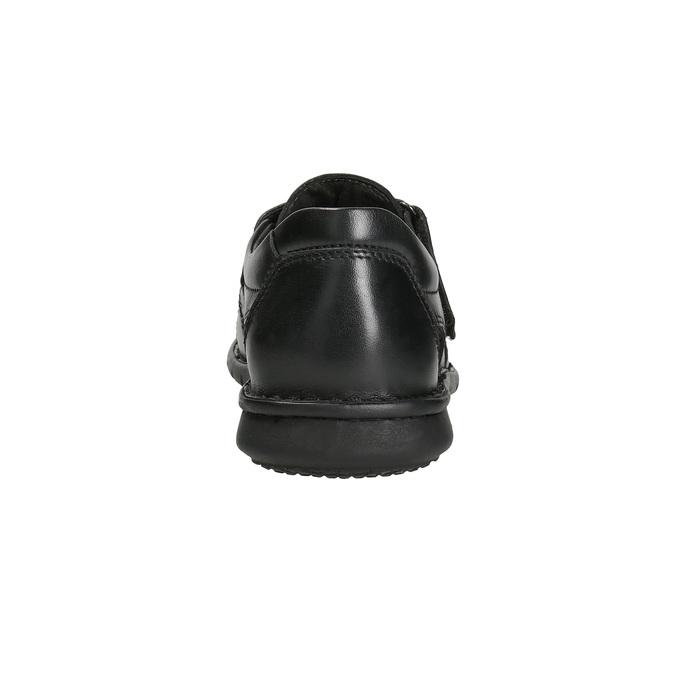Pánske čierne kožené sandále bata, čierna, 864-6600 - 15