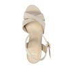 Dámske sandále na masívnom podpätku bata, béžová, 769-8602 - 19
