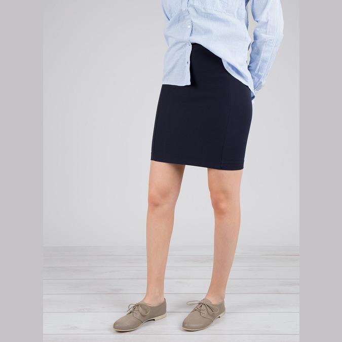 Kožené dámske poltopánky bata, šedá, 526-2619 - 18