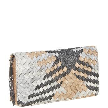 Dámska peňaženka so vzorom bata, hnedá, 941-4149 - 13