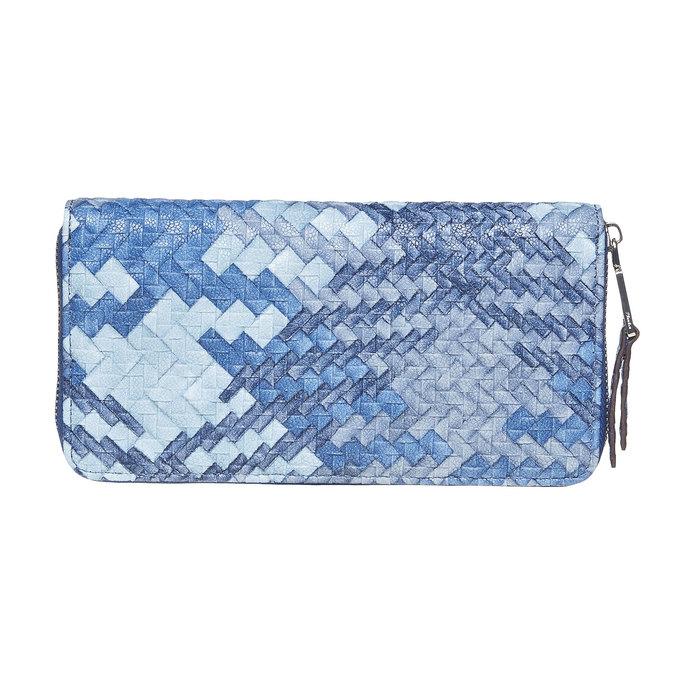Modrá dámska peňaženka so vzorom bata, modrá, 941-9149 - 26