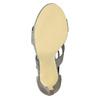Sandále na ihličkovom  podpätku bata, šedá, 761-2602 - 26