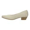 Kožené lodičky na nízkom podpätku bata, béžová, 624-1603 - 26