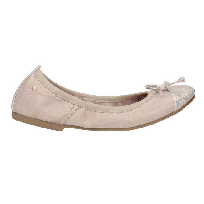 Dámske baleríny s pružným lemom bata, ružová, 521-8601 - 15