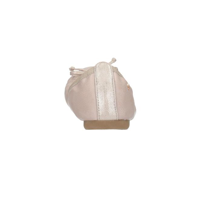 Dámske baleríny s pružným lemom bata, ružová, 521-8601 - 17