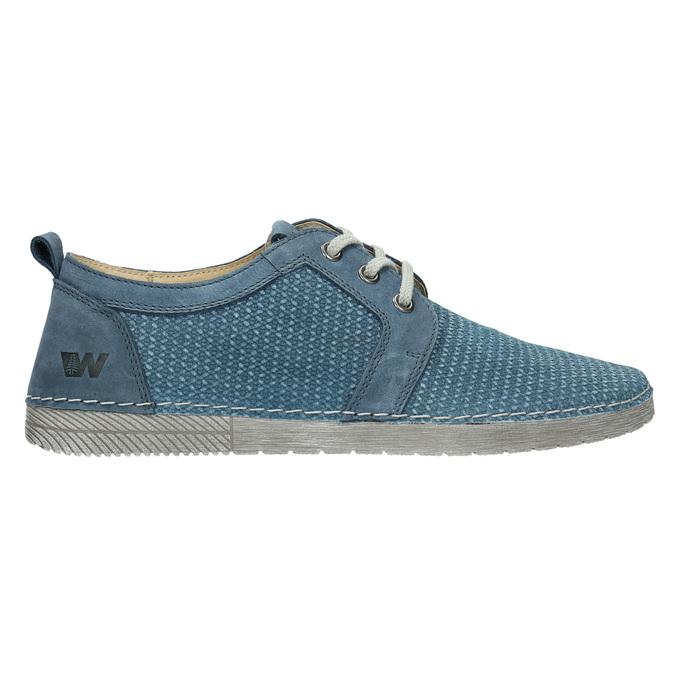 Ležérne kožené poltopánky weinbrenner, modrá, 523-9475 - 15