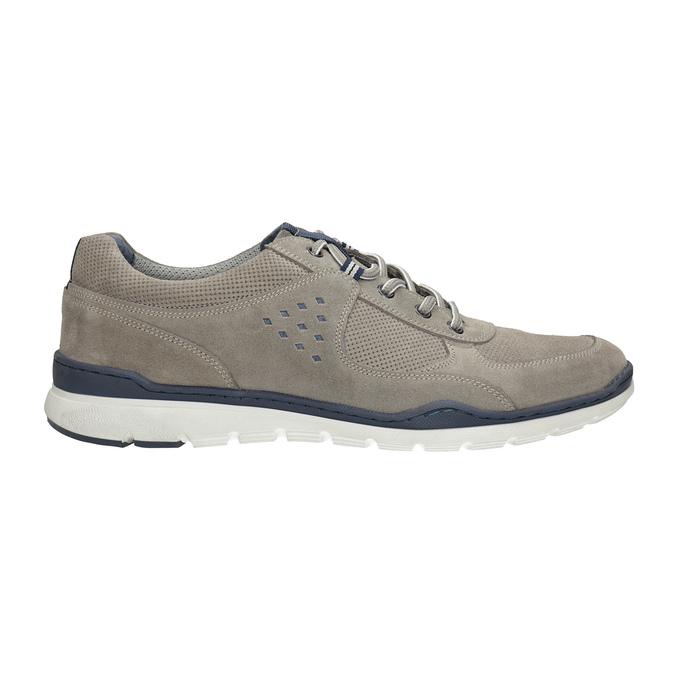 Ležérne kožené tenisky bata, šedá, 843-2627 - 15