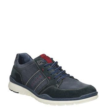 Ležérne tenisky z brúsenej kože bata, modrá, 846-9639 - 13
