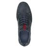 Ležérne tenisky z brúsenej kože bata, modrá, 846-9639 - 17