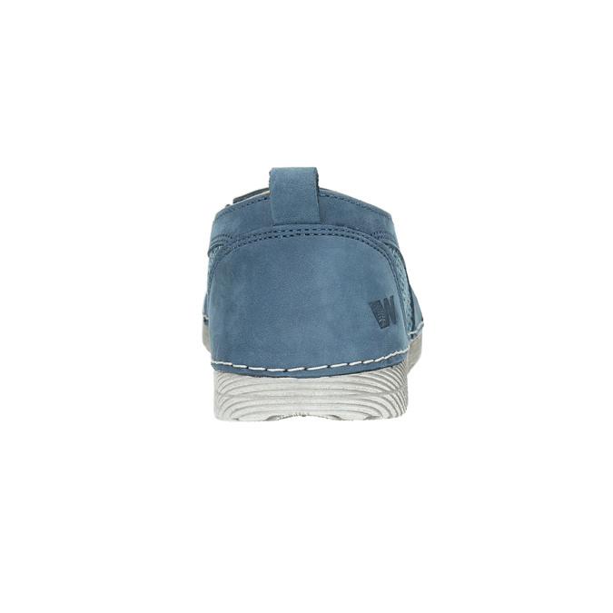 Kožené Slip-on modré weinbrenner, modrá, 513-9263 - 17