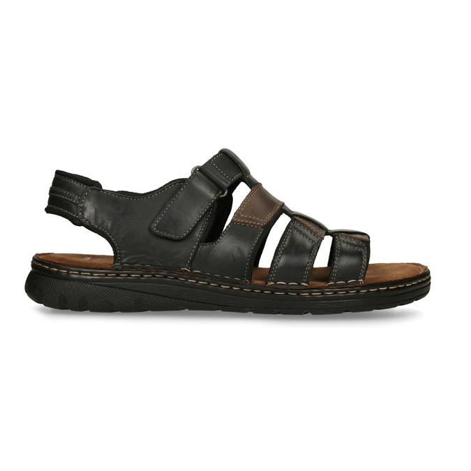 Pánske letné sandále z brúsenej kože bata, hnedá, 866-4610 - 19