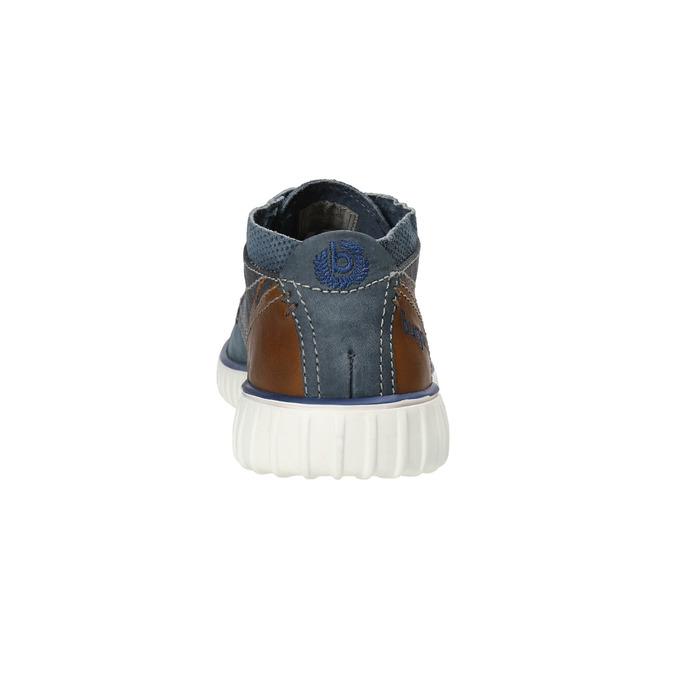 Kožená členková obuv bugatti, modrá, 846-9635 - 17