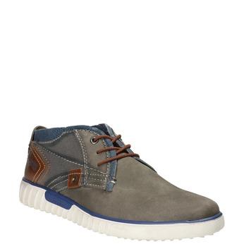 Kožená členková obuv bugatti, šedá, 846-2635 - 13