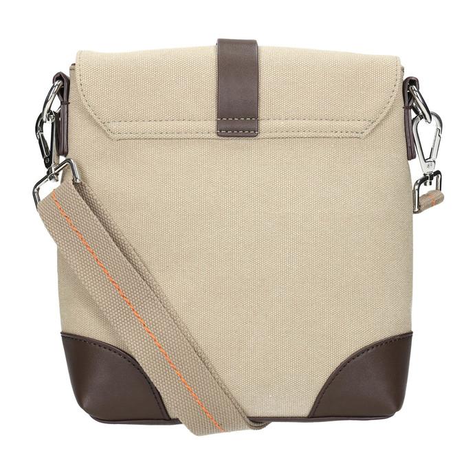 Pánska taška v štýle Crossbody bata, béžová, 969-8284 - 26