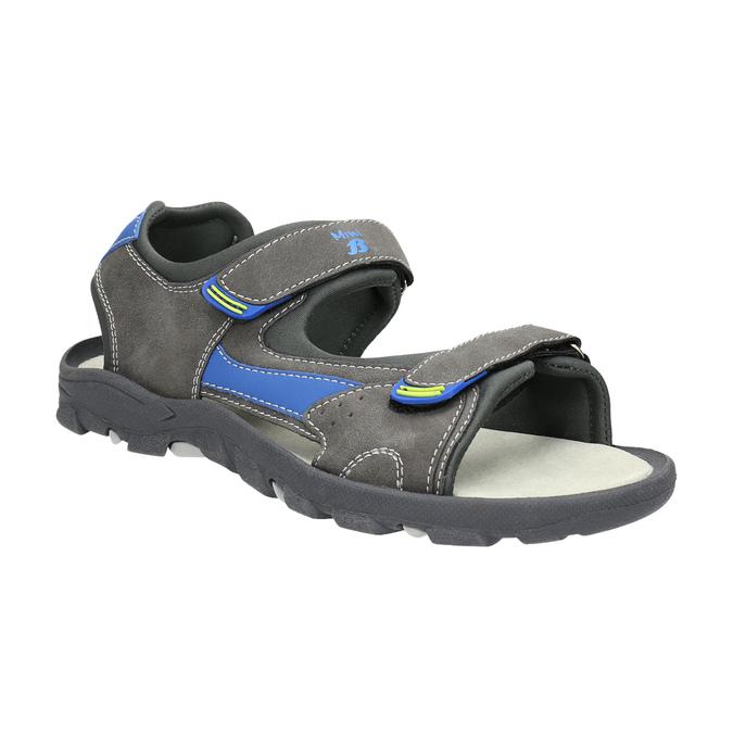 Detské sandále na suchý zips mini-b, šedá, 461-2605 - 13