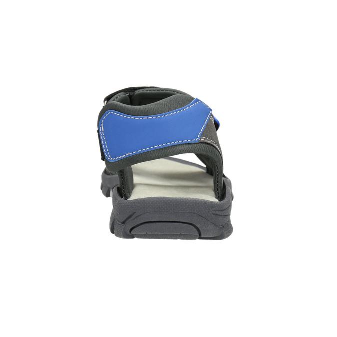 Detské sandále na suchý zips mini-b, šedá, 461-2605 - 17