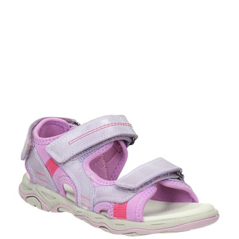 Dievčenské sandále na suchý zips mini-b, ružová, 463-5602 - 13