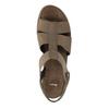 Kožené sandále na klinovom podpätku bata, hnedá, 666-4609 - 19