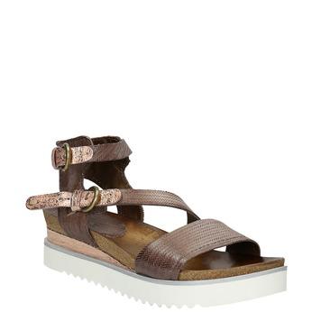 Dámske sandále na výraznej podrážke bata, hnedá, 666-4604 - 13