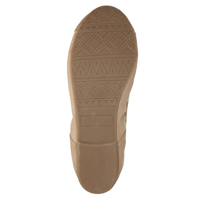 Dámske baleríny s pružným lemom bata, béžová, 521-5601 - 26
