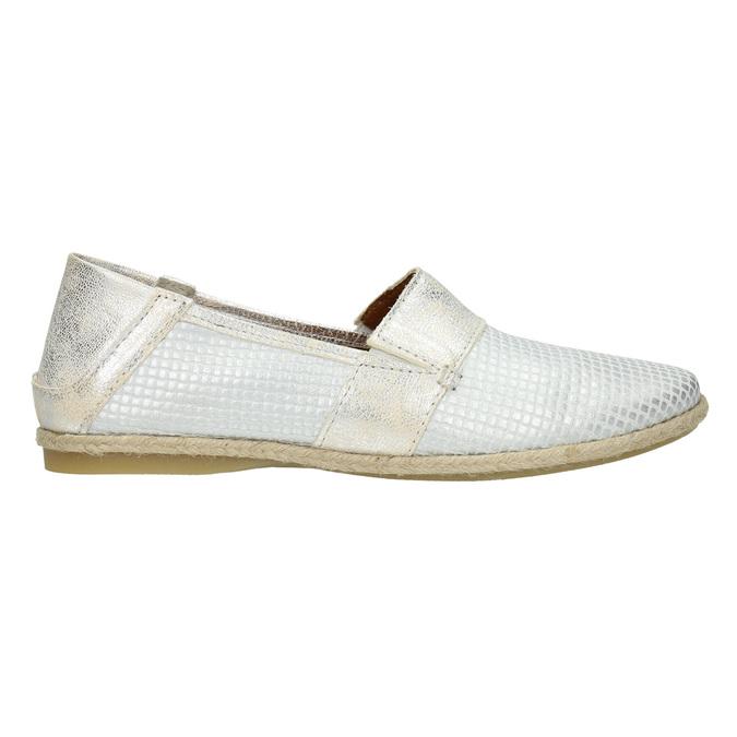Kožená dámska Slip-on obuv bata, biela, 516-1604 - 15